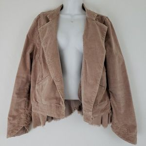 Free People Womens Military Riding Jacket Size L